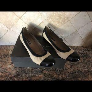 Bruno magli black cream pumps shoes 9